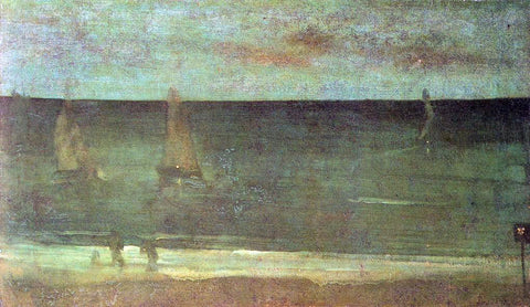 James McNeill Whistler Nocturne: Blue and Silver - Bognor - Hand Painted Oil Painting