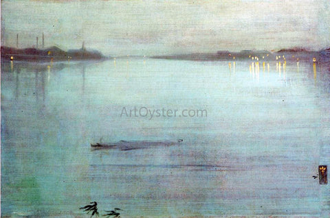 James McNeill Whistler Nocturne: Blue and Silver - Cremorne Lights - Hand Painted Oil Painting