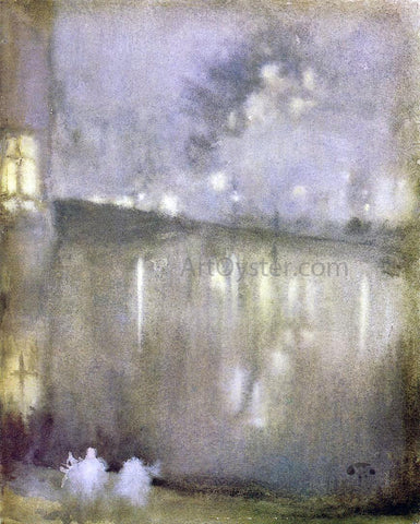 James McNeill Whistler Nocturne: Grey and Gold - Canal, Holland - Hand Painted Oil Painting