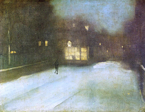 James McNeill Whistler Nocturne: Grey and Gold - Chelsea Snow - Hand Painted Oil Painting