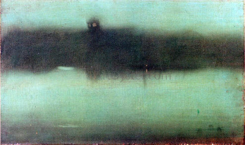 James McNeill Whistler Nocturne: Grey and Silver - Hand Painted Oil Painting