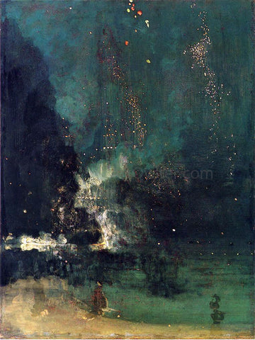 James McNeill Whistler Nocturne in Black and Gold: The Falling Rocket - Hand Painted Oil Painting