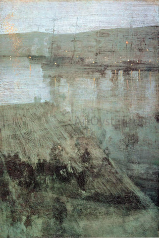 James McNeill Whistler Nocturne in Blue and Gold: Valparaiso Bay - Hand Painted Oil Painting