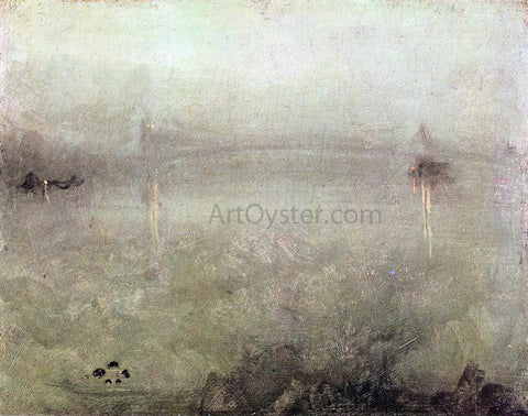 James McNeill Whistler Nocturne: Silver and Opal - Hand Painted Oil Painting
