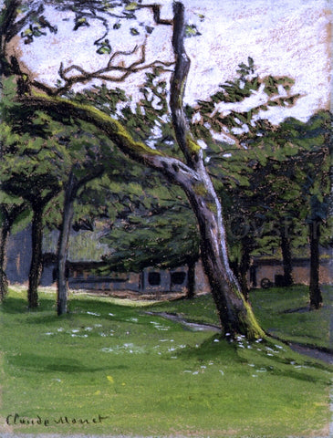 Claude Oscar Monet Norman Farm Through the Trees - Hand Painted Oil Painting