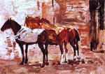 Eugene-Louis Boudin Norman Trotters - Hand Painted Oil Painting
