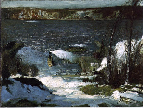 George Wesley Bellows A Scene of the North River - Hand Painted Oil Painting
