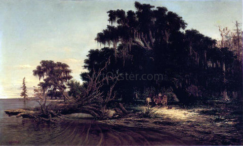 Richard Clague North Shore of Lake Pontchartrain at Mandeville - Hand Painted Oil Painting