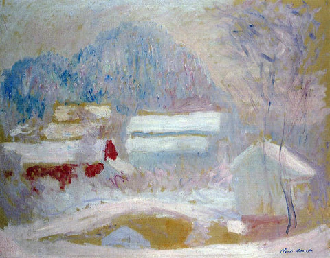 Claude Oscar Monet Norwegian Landscape, Sandviken - Hand Painted Oil Painting