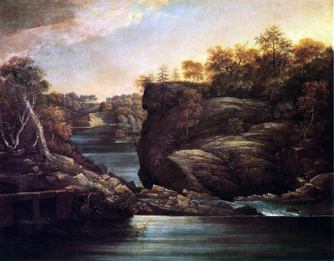 John Trumbull Norwich Falls (also known as The Falls of the Yantic at Norwich) - Hand Painted Oil Painting