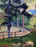 Paul Gauguin Nostalgic Promenade - Hand Painted Oil Painting