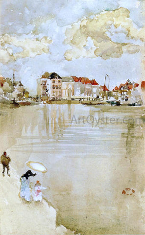 James McNeill Whistler Note in Gold and Silver - Dordrecht - Hand Painted Oil Painting