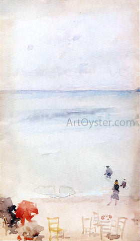 James McNeill Whistler Note in Opal - The Sands, Dieppe - Hand Painted Oil Painting
