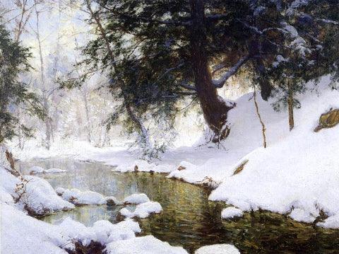 Walter Launt Palmer November Snow - Hand Painted Oil Painting