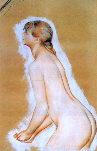 Pierre Auguste Renoir Nude (also known as Study for 'The Large Bathers') - Hand Painted Oil Painting