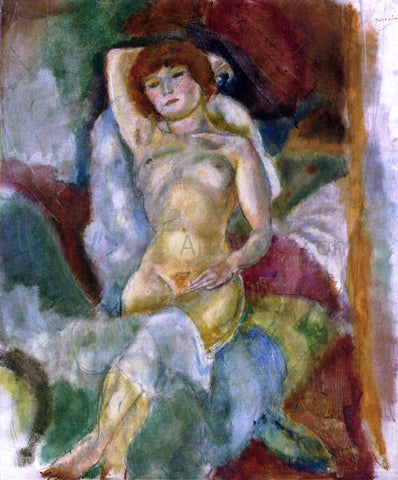 Jules Pascin Nude, Arm Raised - Hand Painted Oil Painting