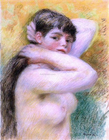 Pierre Auguste Renoir Nude Arranging Her Hair - Hand Painted Oil Painting