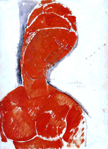 Amedeo Modigliani Nude Bust - Hand Painted Oil Painting