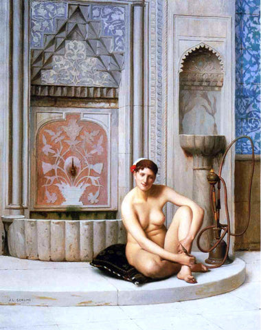 Jean-Leon Gerome Nude - Hand Painted Oil Painting