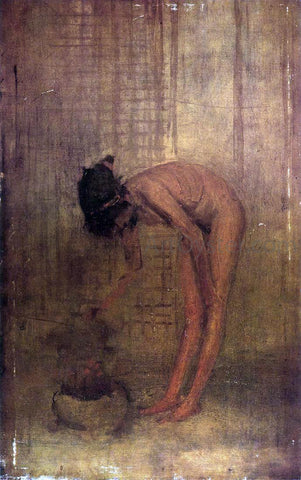 James McNeill Whistler Nude Girl with a Bowl - Hand Painted Oil Painting