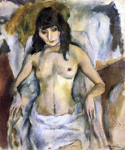 Jules Pascin Nude in an Armchair - Hand Painted Oil Painting