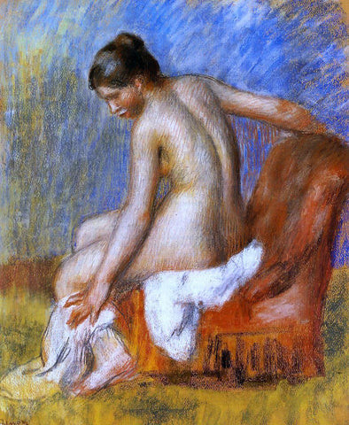 Pierre Auguste Renoir Nude in an Armchair - Hand Painted Oil Painting