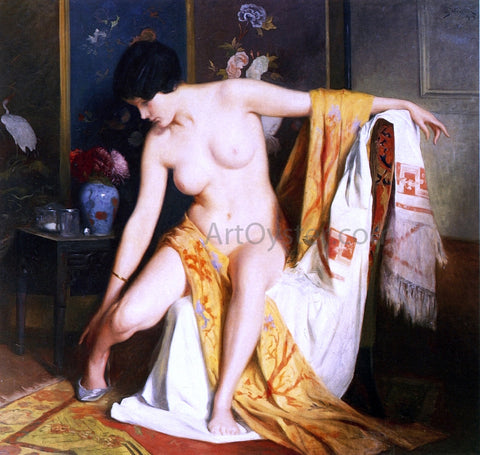 Julius LeBlanc Stewart Nude in an Interior - Hand Painted Oil Painting
