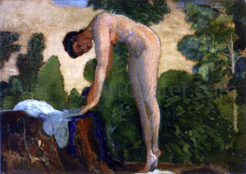 Arthur B Davies Nude in Forest - Hand Painted Oil Painting