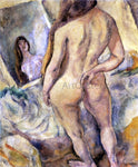 Jules Pascin Nude in Front of a Mirror - Hand Painted Oil Painting