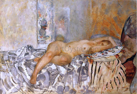 Henri Lebasque Nude on Spanish blanket - Hand Painted Oil Painting