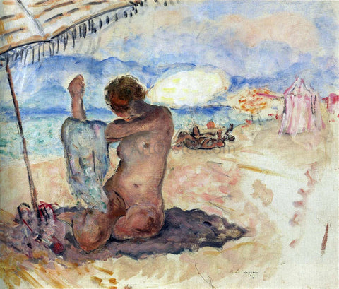 Henri Lebasque Nude on the Beach - Hand Painted Oil Painting