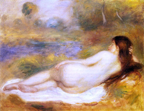 Pierre Auguste Renoir Nude Reclining on the Grass - Hand Painted Oil Painting