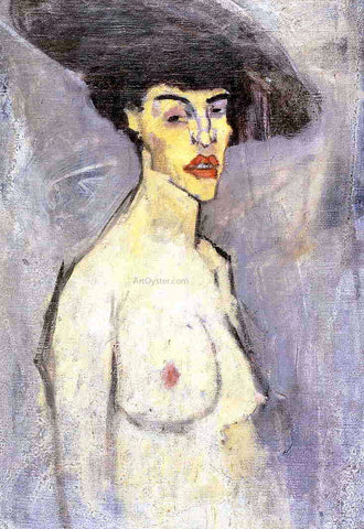 Amedeo Modigliani Nude with Hat - Hand Painted Oil Painting