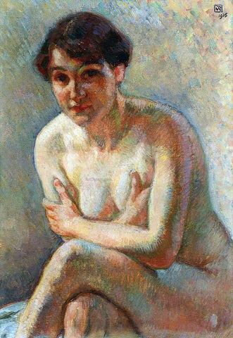 Theo Van Rysselberghe Nude Woman - Hand Painted Oil Painting