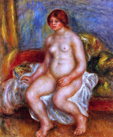 Pierre Auguste Renoir Nude Woman on Gree Cushions - Hand Painted Oil Painting