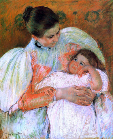 Mary Cassatt Nurse and Child - Hand Painted Oil Painting