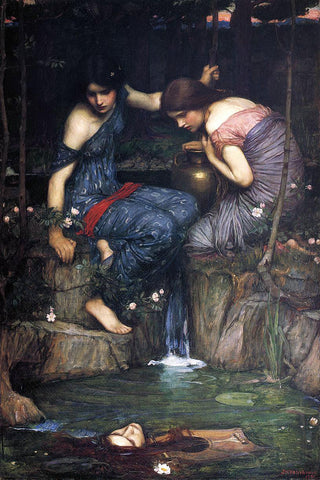 John William Waterhouse Nymphs Finding the Head of Orpheus - Hand Painted Oil Painting