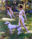 Julius LeBlanc Stewart Nymphs Hunting - Hand Painted Oil Painting