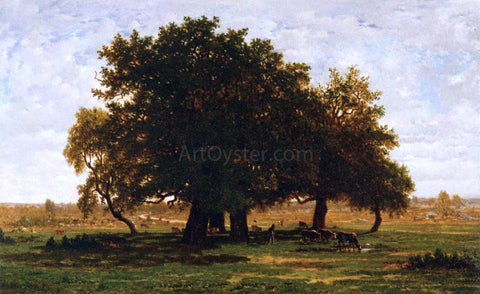 Theodore Rousseau Oak Grove, Apremont - Hand Painted Oil Painting