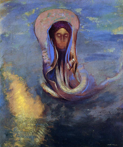 Odilon Redon Oannes - Hand Painted Oil Painting