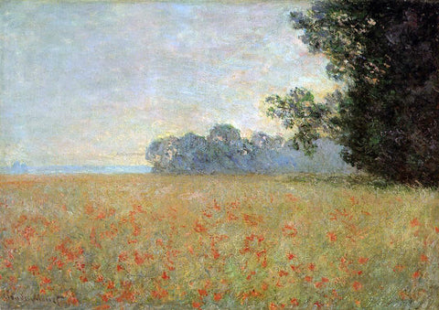 Claude Oscar Monet Oat and Poppy Field - Hand Painted Oil Painting