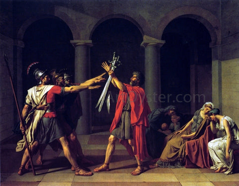 Jacques-Louis David Oath of the Horatii - Hand Painted Oil Painting