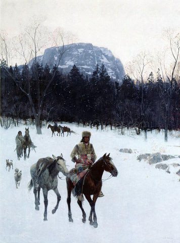 Henry F Farney Obsidian Mountain in The Yellowstone - Hand Painted Oil Painting