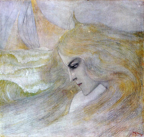 Jan Toorop Oceanide - Hand Painted Oil Painting