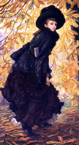James Tissot October - Hand Painted Oil Painting