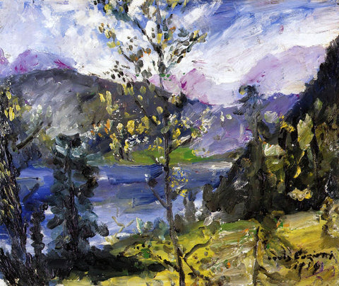 Lovis Corinth October Show at the Walchensee - Hand Painted Oil Painting