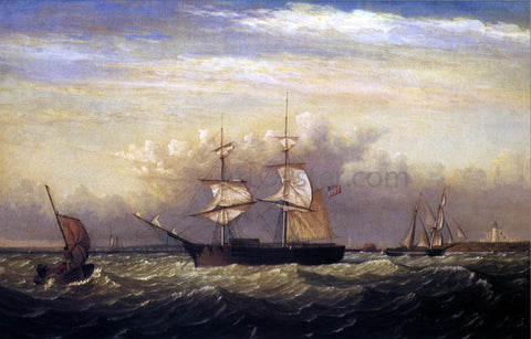 Fitz Hugh Lane Off Ten Pound Island, Gloucester Harbor, Massachusetts - Hand Painted Oil Painting