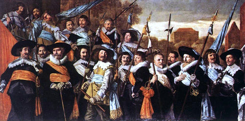 Frans Hals Officers and Sergeants of the St George Civic Guard Company - Hand Painted Oil Painting