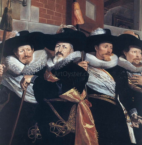 Hendrick Gerritsz Pot Officers of the Civic Guard of St Adrian (detail) - Hand Painted Oil Painting