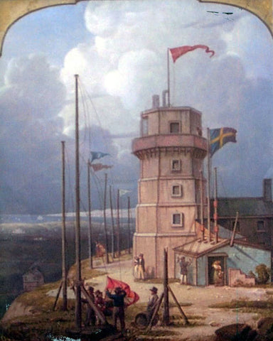 Robert Salmon Old Bidston Lighthouse - Hand Painted Oil Painting